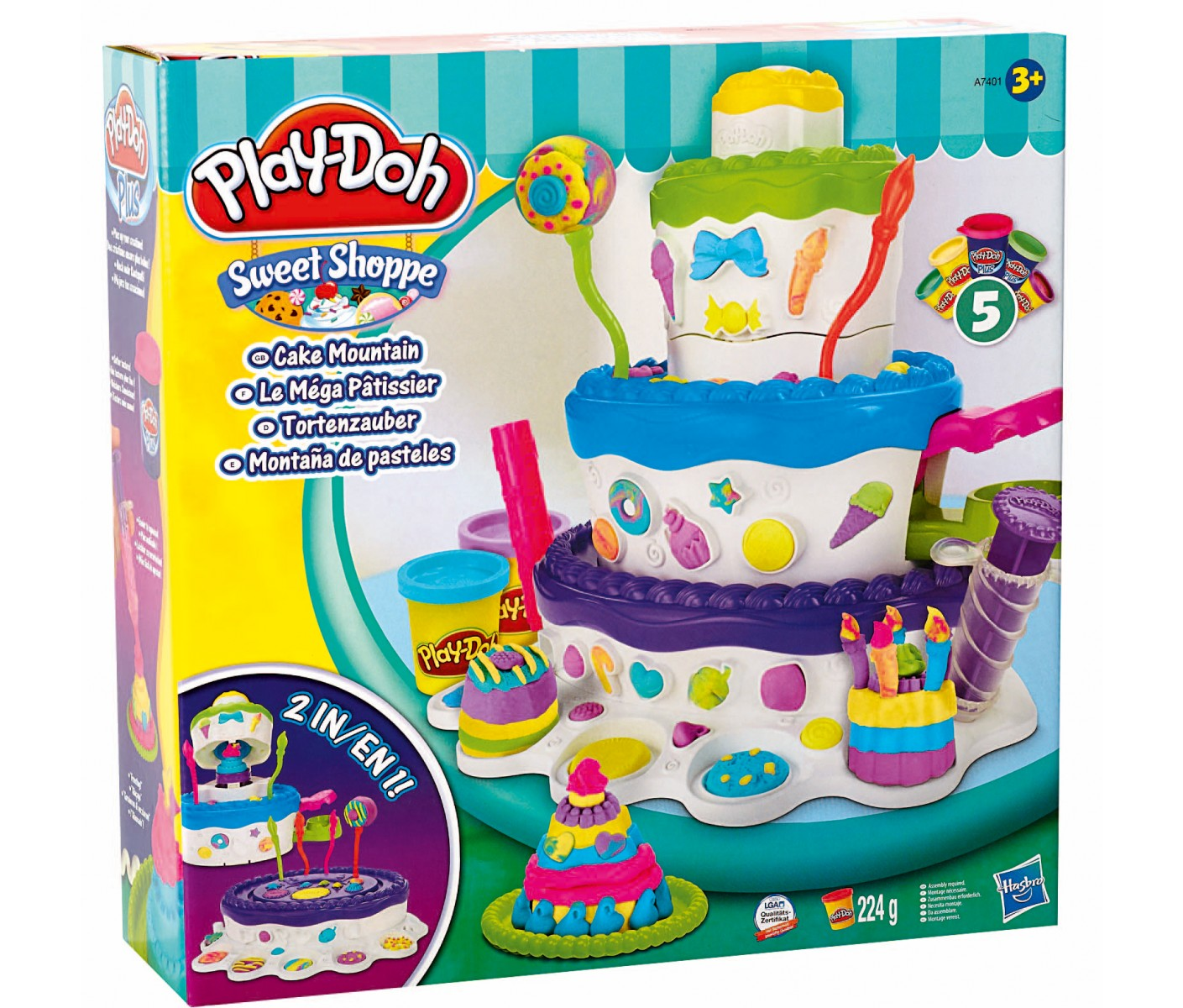 p te modeler mega patissier play doh 52431. Black Bedroom Furniture Sets. Home Design Ideas