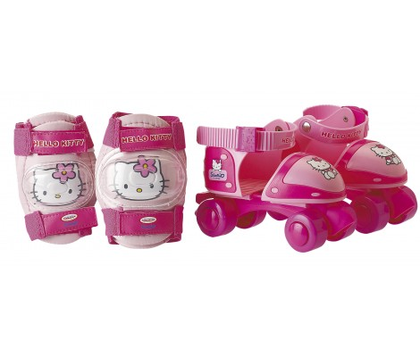 Rollers ajustables + Protection - Hello Kitty