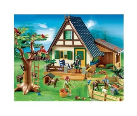 MAISON FORESTIERE / FAMILLE / ANIMAUX PLAYMOBIL 4207