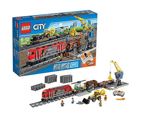 lego city 60098 jeu de construction le train de marchandises 91677. Black Bedroom Furniture Sets. Home Design Ideas