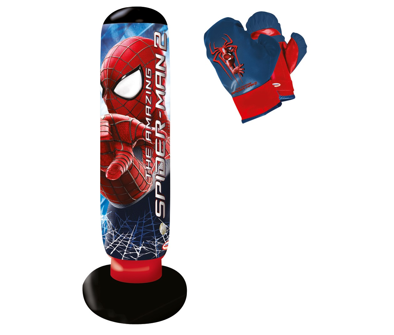 punching ball spiderman sonore 52618. Black Bedroom Furniture Sets. Home Design Ideas