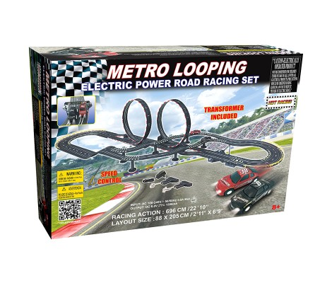 MEGA CIRCUIT ELECTRIQUE DOUBLE LOOPINGS