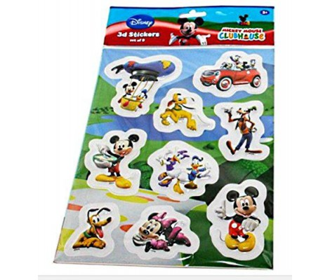 SET 9 STICKER MICKEY ET SES AMIS 3D RELIEF DISNEY