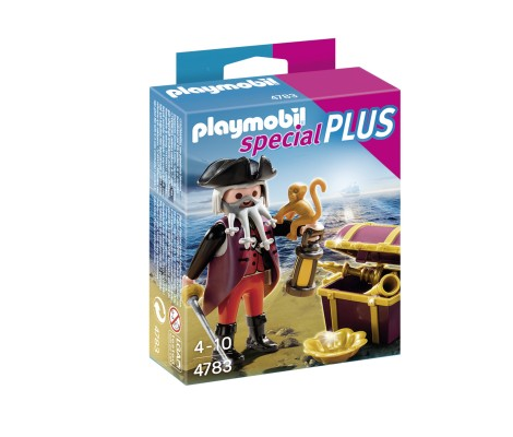 Playmobil - 4783 - Pirate Barbe Grise avec coffre