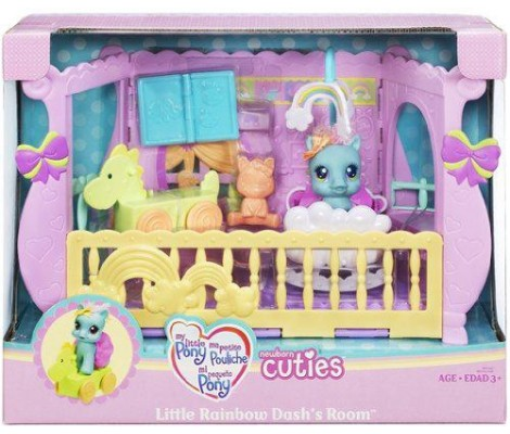 Hasbro - My Little Pony - 68725 - Poupée - Bébé Poney Nurserie - Little Rainbow Dash's Room (Playset)