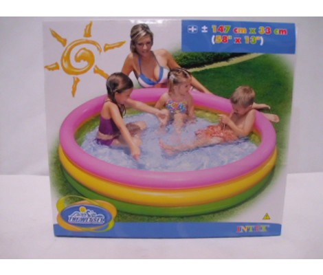 PISCINE 3 BOUDINS FOND GONFLABLE - 147 X 33 CM