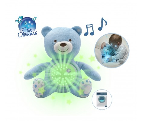 Ourson Projecteur Baby Bear Bleu First Dreams - Chicco