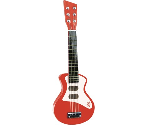 Guitare rock rouge